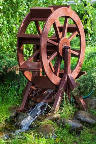 декоративная водяная мельница