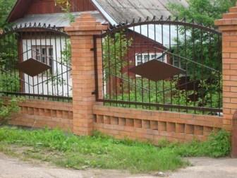 пример комбинированой ограды