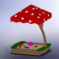 грибок на детской площадке