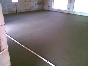 бетонный пол в доме