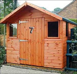 деревянный садовый сарай