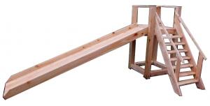 деревянная детская горка