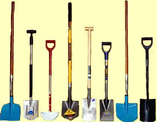 виды огородных лопат