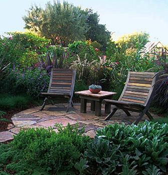 площадка для общения и отдыха на даче –  патио