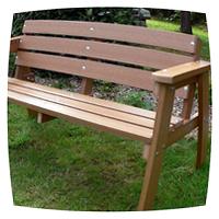 самодельная скамейка для сада