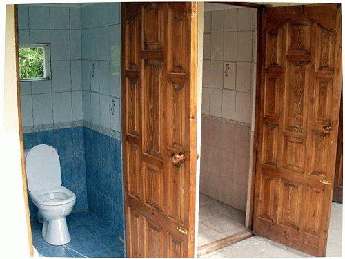 Совместный душ и туалет для дачи своими руками